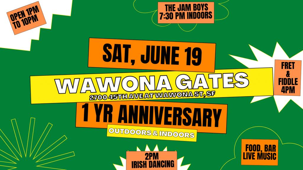 First Anniversary of Wawona Gates